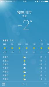 1月26日気温