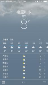 1月30日朝の気温