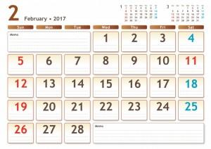イラスト予定表2月