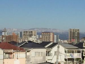 関西初冠雪⁉